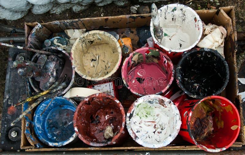 Farben-Töpfe stockfoto