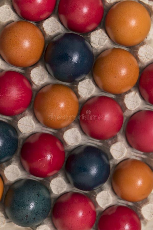 Farben und Tradition, Ostereier stockbild