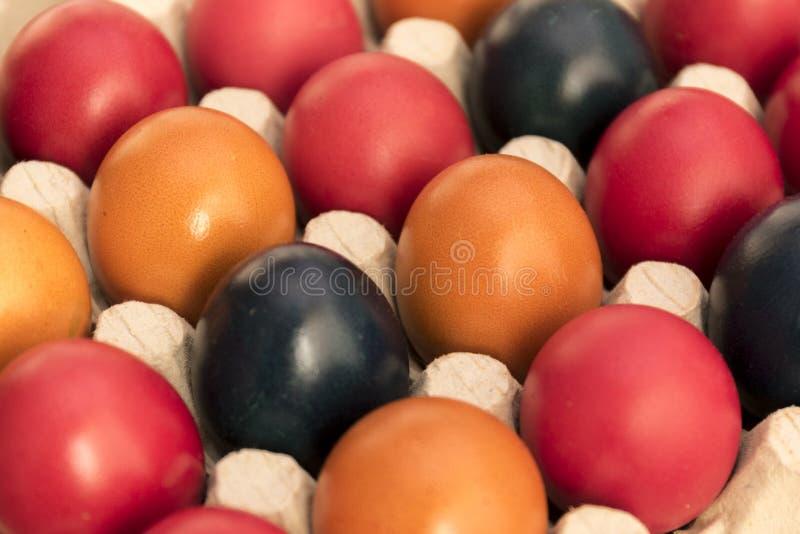 Farben und Tradition, Ostereier stockbilder