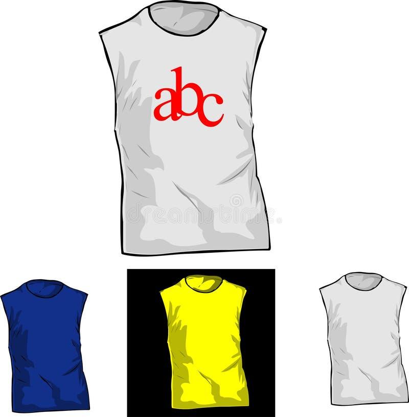 Farben-und Weiß-Shirt-Schablonen. Vektor Abbildung - Illustration ...