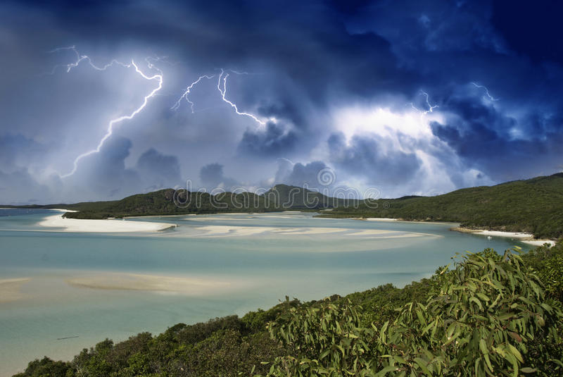 Farben von Whitehaven setzen, Australien auf den Strand lizenzfreie stockbilder