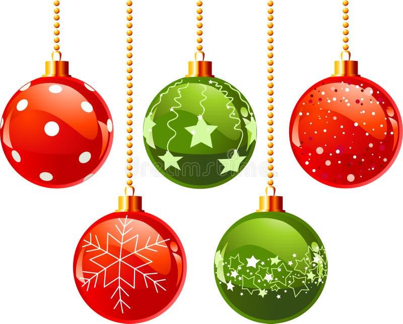 Farben-Weihnachtskugeln lizenzfreie abbildung