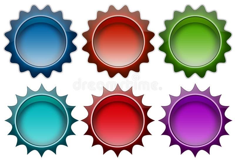 Farbenabzeichen stock abbildung