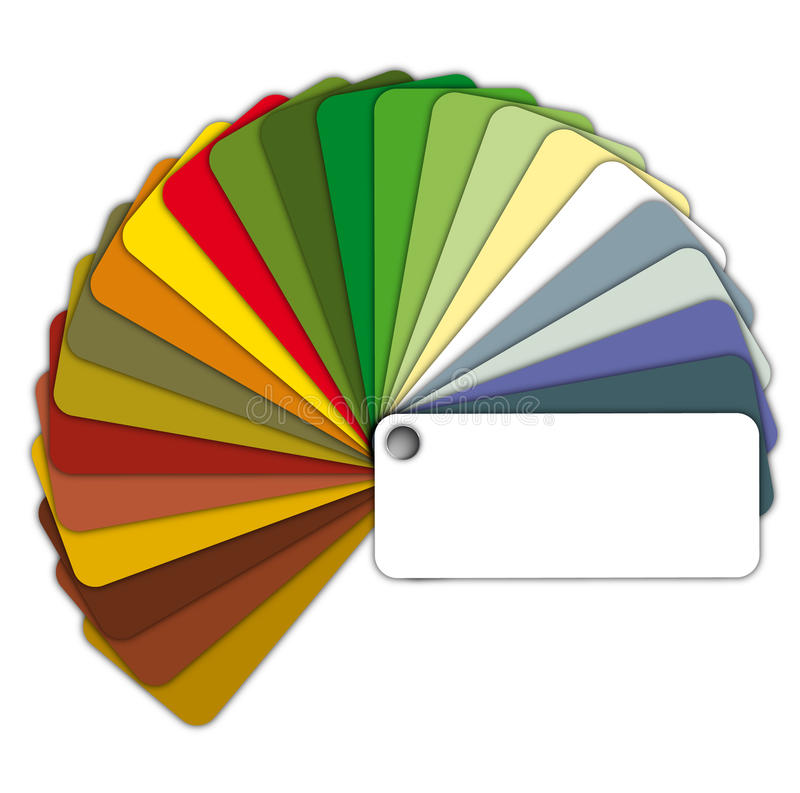Farbenanleitung lizenzfreie abbildung