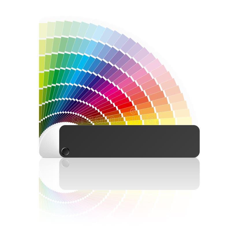 Farbenanleitung. Vektor. stock abbildung