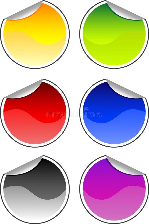 Farbenaufkleber vektor abbildung