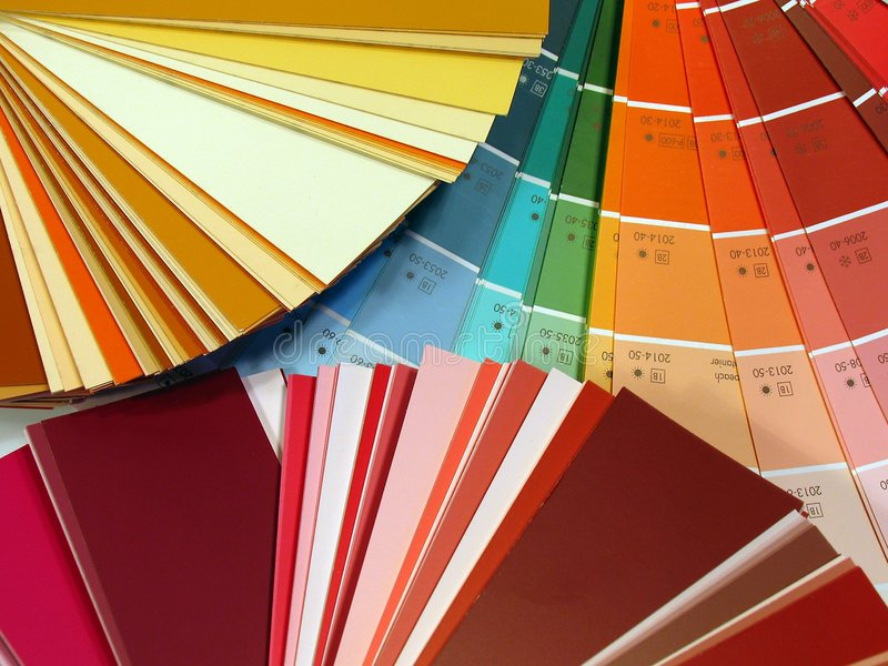 Farbenauslegung lizenzfreie stockbilder
