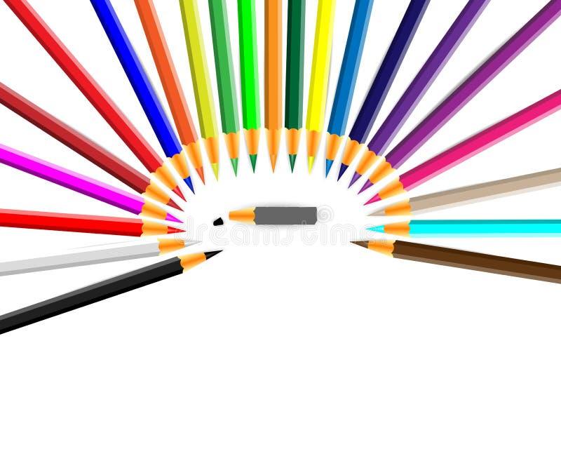 Farbenbleistift. lizenzfreie abbildung
