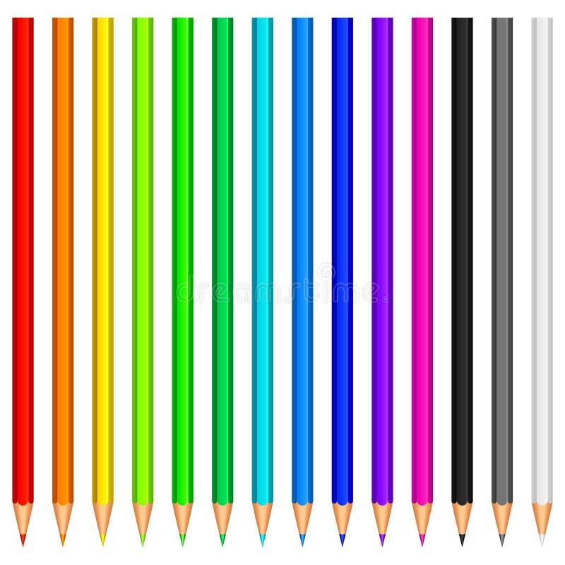 Farbenbleistifte. lizenzfreie abbildung