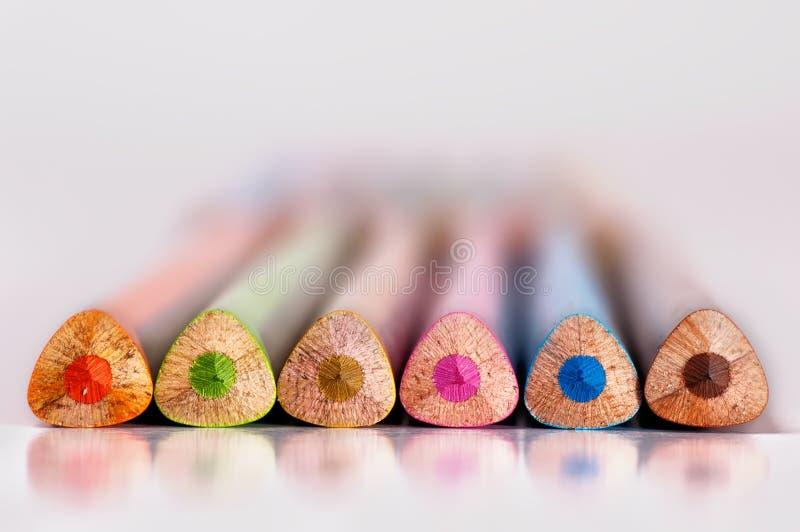 Farbenbleistifte stockfotografie