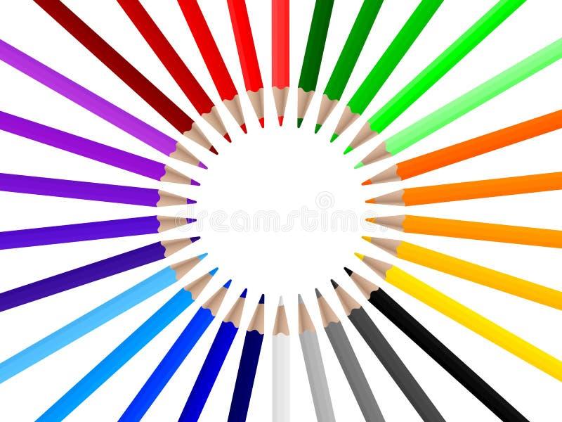 Farbenbleistifte 3 stock abbildung