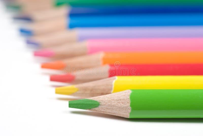 Farbenbleistifte lizenzfreie stockfotografie