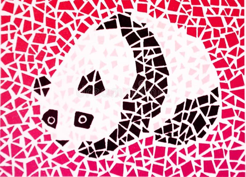 Farbenblinder Test - Panda lizenzfreie abbildung