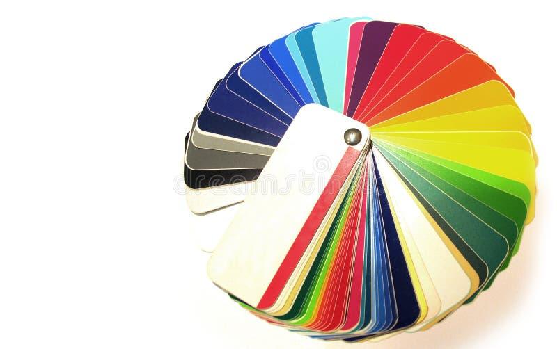 Farbendiagramm stockfotos