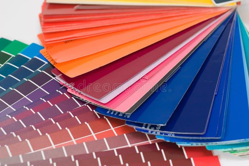 Farbendiagramme stockfotos