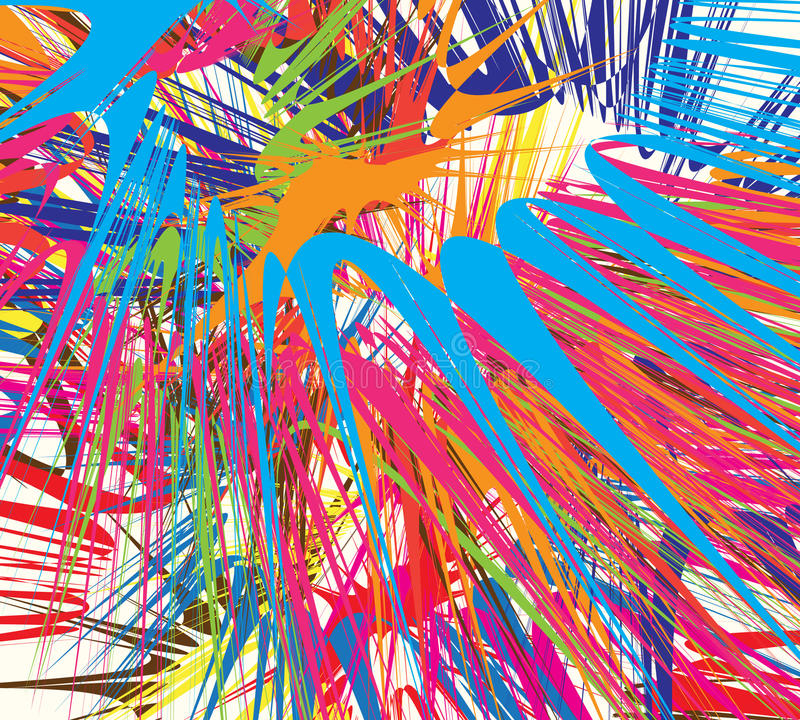 Farbenexplosion stock abbildung