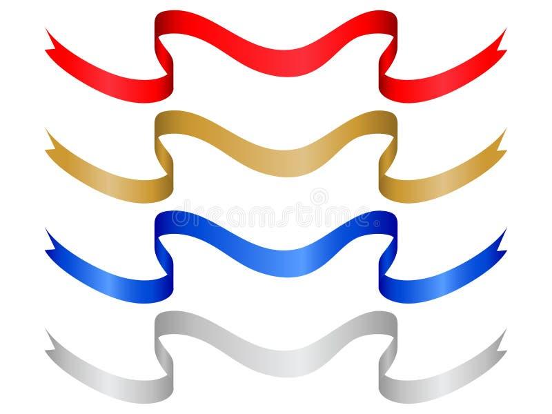 Farbenfahne stellte 10 ein stock abbildung