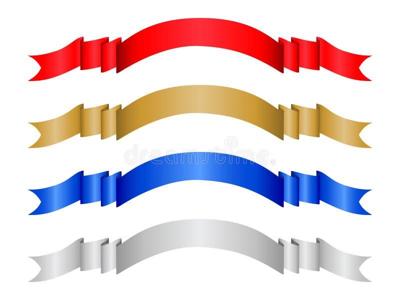 Farbenfahne stellte 2 ein lizenzfreie abbildung
