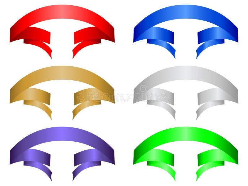 Farbenfahne stellte 5 ein lizenzfreie abbildung