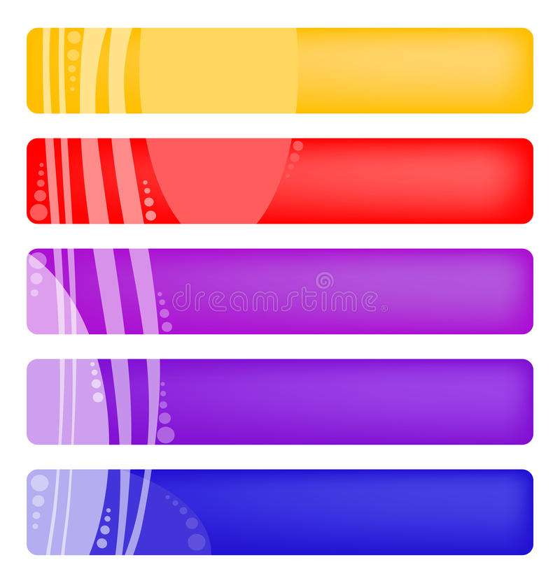 Farbenfahnen stock abbildung