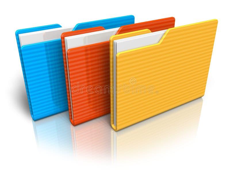 Farbenfaltblätter lizenzfreie abbildung