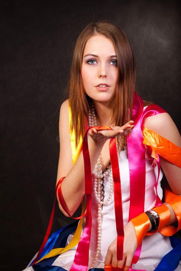 Farbenfarbbänder stockfotografie