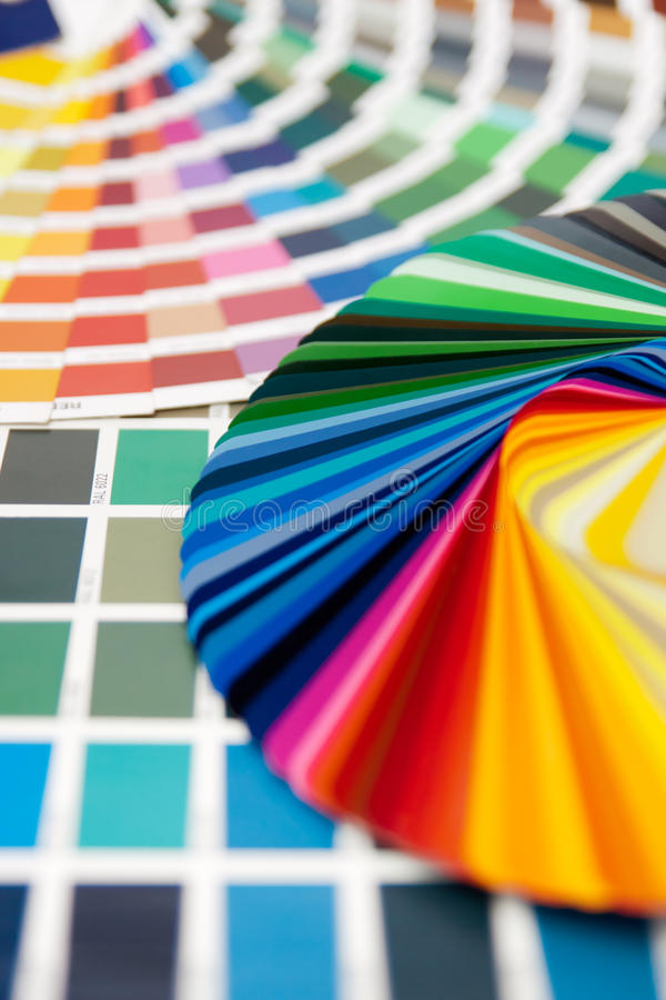 Farbenkarte RAL lizenzfreies stockbild