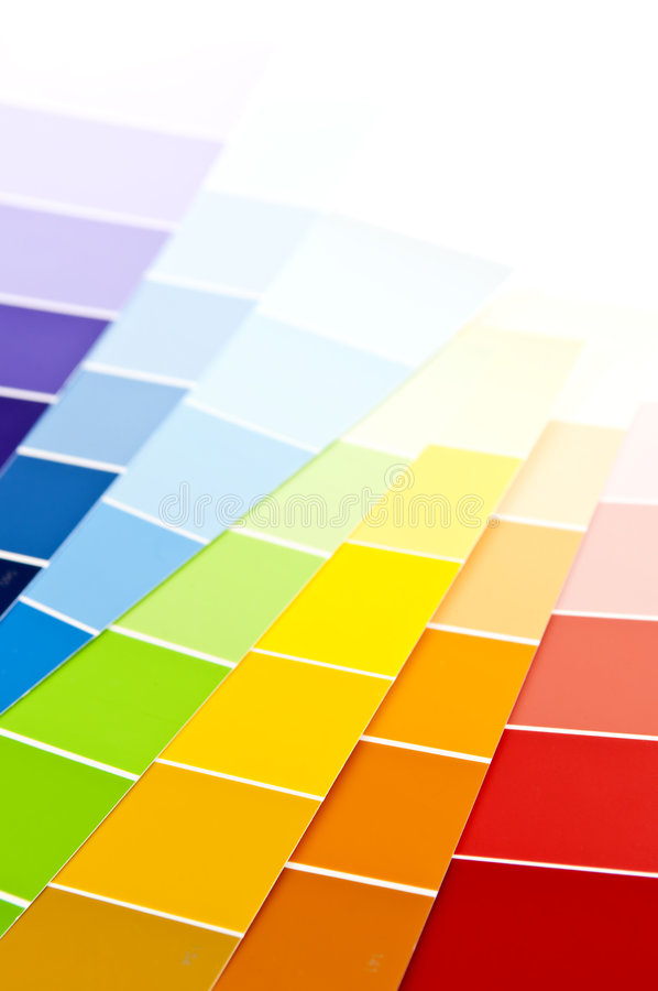 Farbenkarten-Lackproben stockfotos