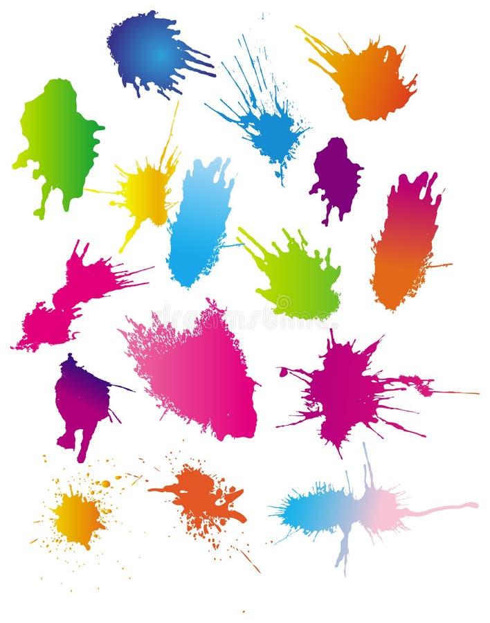 Farbenlack spritzt lizenzfreie abbildung