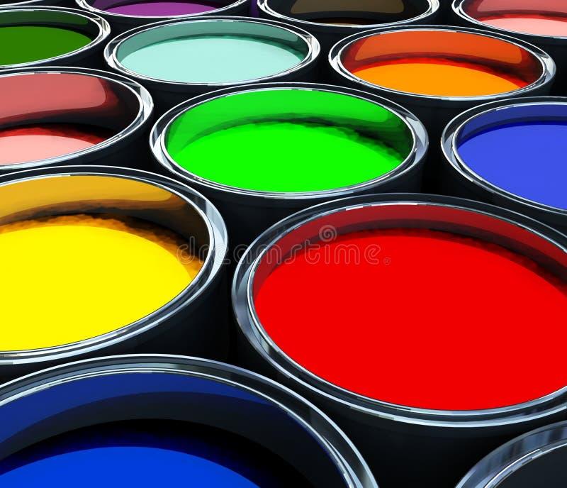 Farbenlackbecken, abstrakter Hintergrund vektor abbildung