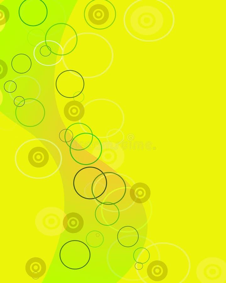 Farbenleerzeichen mit Luftblasen vektor abbildung