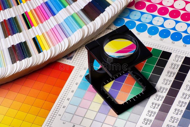 Farbenmanagementset stockfotos