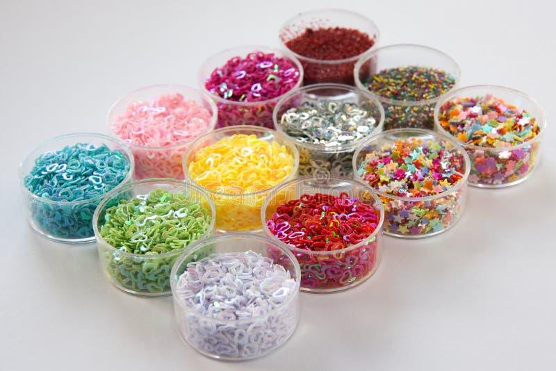 Farbennageldekoration lizenzfreies stockfoto