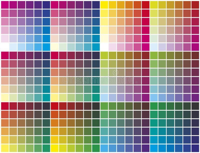 Farbenpalette lizenzfreie abbildung