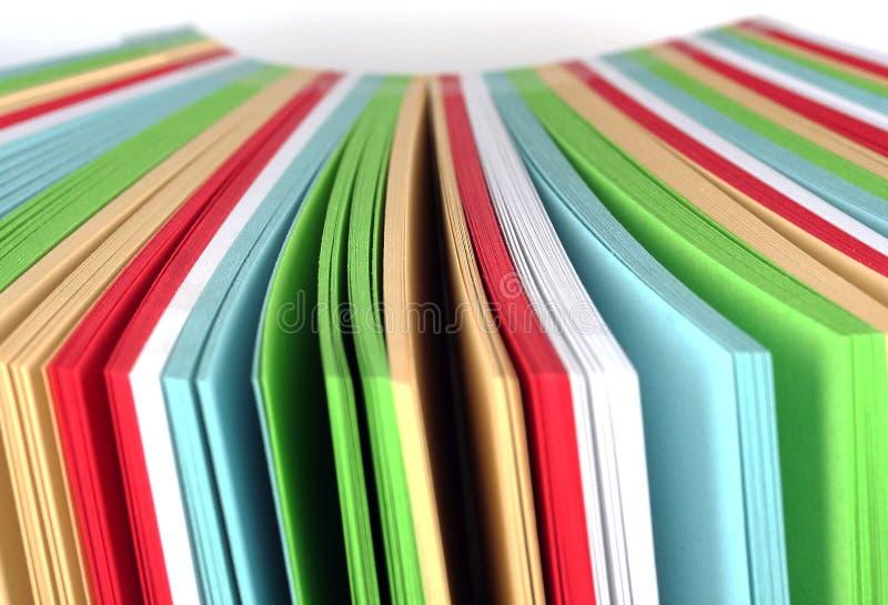 Farbenpapier lizenzfreie stockfotos