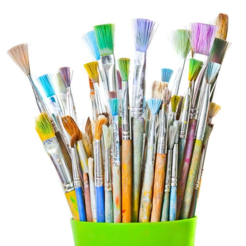 Farbenpinsel trennten Bild lizenzfreie stockfotografie