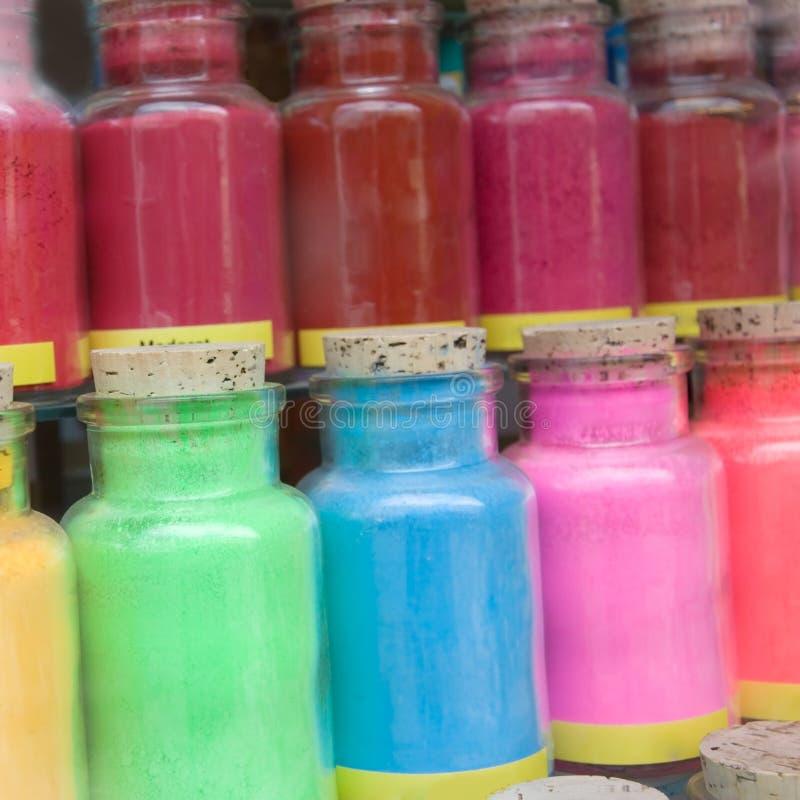 Farbenpuder lizenzfreie stockbilder