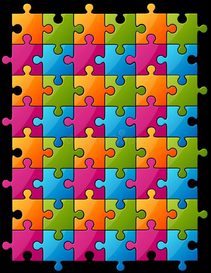 Farbenpuzzlespiel vektor abbildung