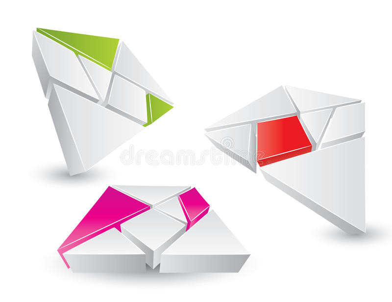 Farbenpuzzlespielset stock abbildung