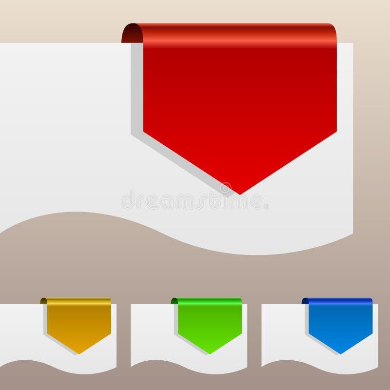 Farbenrabattkennsätze stock abbildung