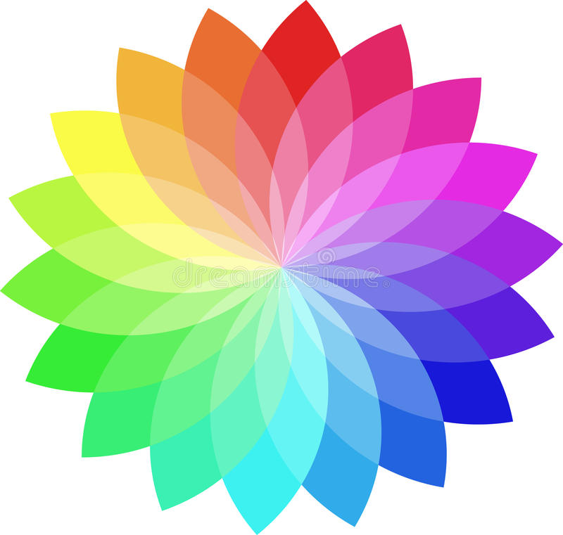 Farbenrad stock abbildung