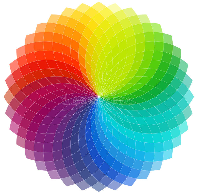 Farbenradhintergrund stock abbildung