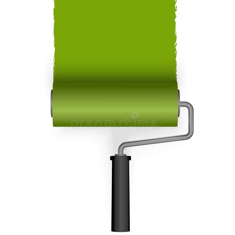 Farbenrolle mit Markierung stock abbildung