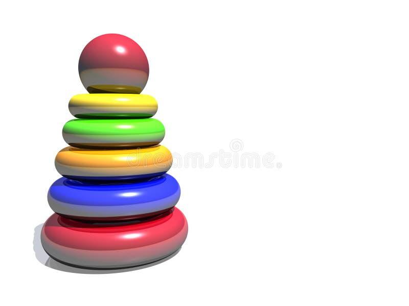 Farbenschätzchenpyramide lizenzfreie abbildung