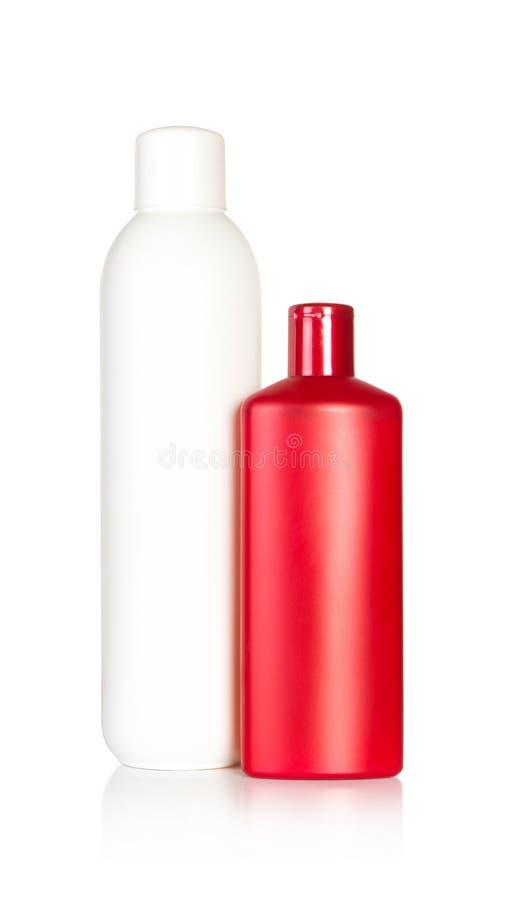 Farbenshampooflaschen lizenzfreie stockfotografie