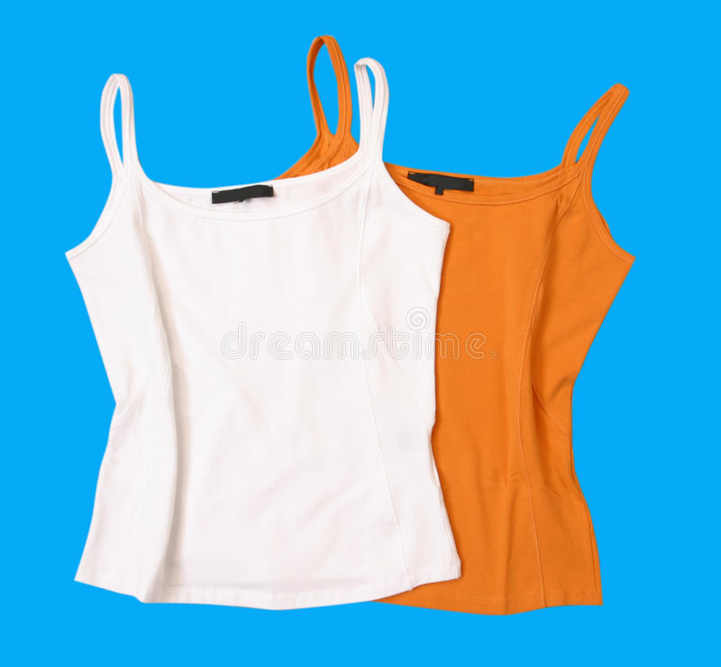Farbenshirt-Blusenweste lizenzfreies stockbild