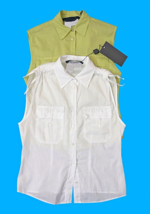 Farbenshirt-Blusenweste lizenzfreie stockfotografie