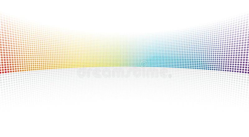 Farbenspektrumpunkte stock abbildung
