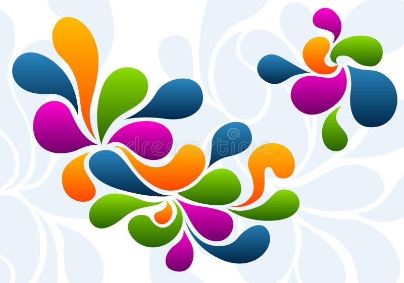 Farbenspritzenhintergrund stock abbildung