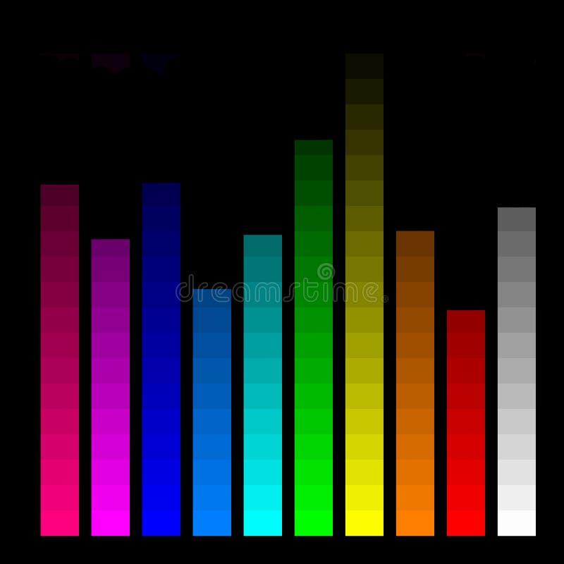 Farbenstäbe für Überwachungsgerätkalibrierung lizenzfreie abbildung